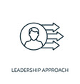 leadership approach outline icon thin line vector image vector image