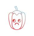 line kawaii cute thinking pepper vegetable vector image vector image