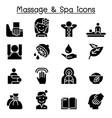 massage spa icon set vector image vector image