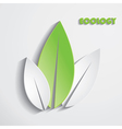Modern abstract green leaves background vector image vector image