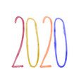new year s date 2020 number on white background vector image