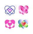 original geometric heart vector image vector image