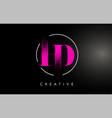 pink hd brush stroke letter logo design pink vector image