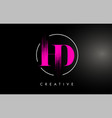pink hd brush stroke letter logo design vector image vector image