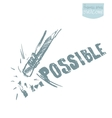 Possible ambitions challenge concept vector image