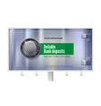 safety deposit box for storing money on billboard vector image