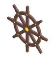 sailboat ship wheel icon isometric style vector image vector image