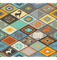 Seamless navajo pattern with rhombus Pencil vector image vector image