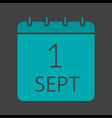 september 1st date glyph color icon