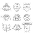 set monochrome label logo and badge vector image