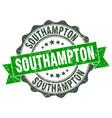 southampton round ribbon seal vector image vector image
