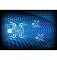 Spider Technology Blue Background vector image vector image