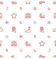 success icons pattern seamless white background vector image vector image