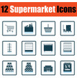 supermarket icon set vector image vector image