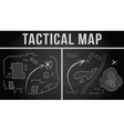 Tactical map of the fighting vector image vector image