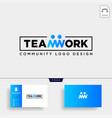 team work typography community human logo vector image