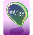 text me sticker vector image vector image