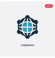 two color cyberspace icon from programming vector image vector image