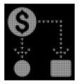 white halftone cashflow scheme icon vector image vector image