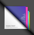 white paper and colored paper background vector image vector image