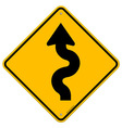 Winding Road Sign vector image vector image