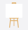 Wooden easel with canvas