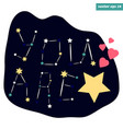you are the star sign vector image vector image
