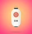 flat abstract white japan lantern icon vector image