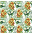 Seamless pattern with yellow sunflowers painted in vector image