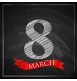 8 march Womens Day greeting card with number eight vector image vector image
