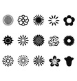 abstract flower icons vector image vector image