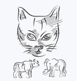 animal sketch vector image