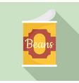beans tin can icon flat style vector image vector image