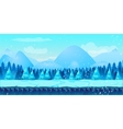 Beautiful Winter Landscape 2d game application vector image vector image