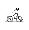 bicycle bike icon cycling thin line icon vector image vector image