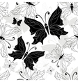 black white butterfly vector image vector image