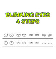 blinking eyes steps preset for character vector image