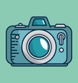 camera photographic handmade drawn vector image vector image