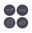 Car door muffler and klaxon signal icons vector image vector image