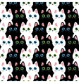 Cats seamless abstract pattern vector image vector image