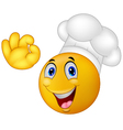 Chef smiley emoticon vector image