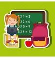 Children using laptop at school design vector image