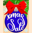 christmas sale bright colorful poster with tree vector image