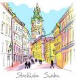 church storkyrkan in stockholm sweden vector image vector image