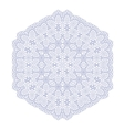 Circle Lace Ornament Round Geometric Pattern vector image vector image