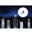 City and Halloween night vector image vector image