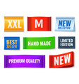 clothes tags promo fabric badges color cotton vector image vector image