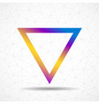 colorful abstract triangle logo isolated on white vector image vector image