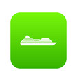 cruise liner icon digital green vector image vector image
