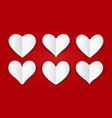 cutout paper folded hearts vector image